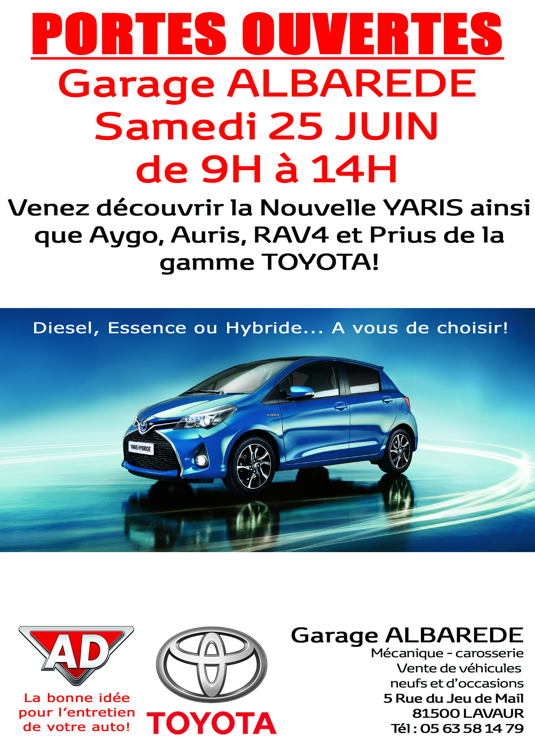 Toyota garage albarede journ e portes ouvertes blog for Garage opel l union