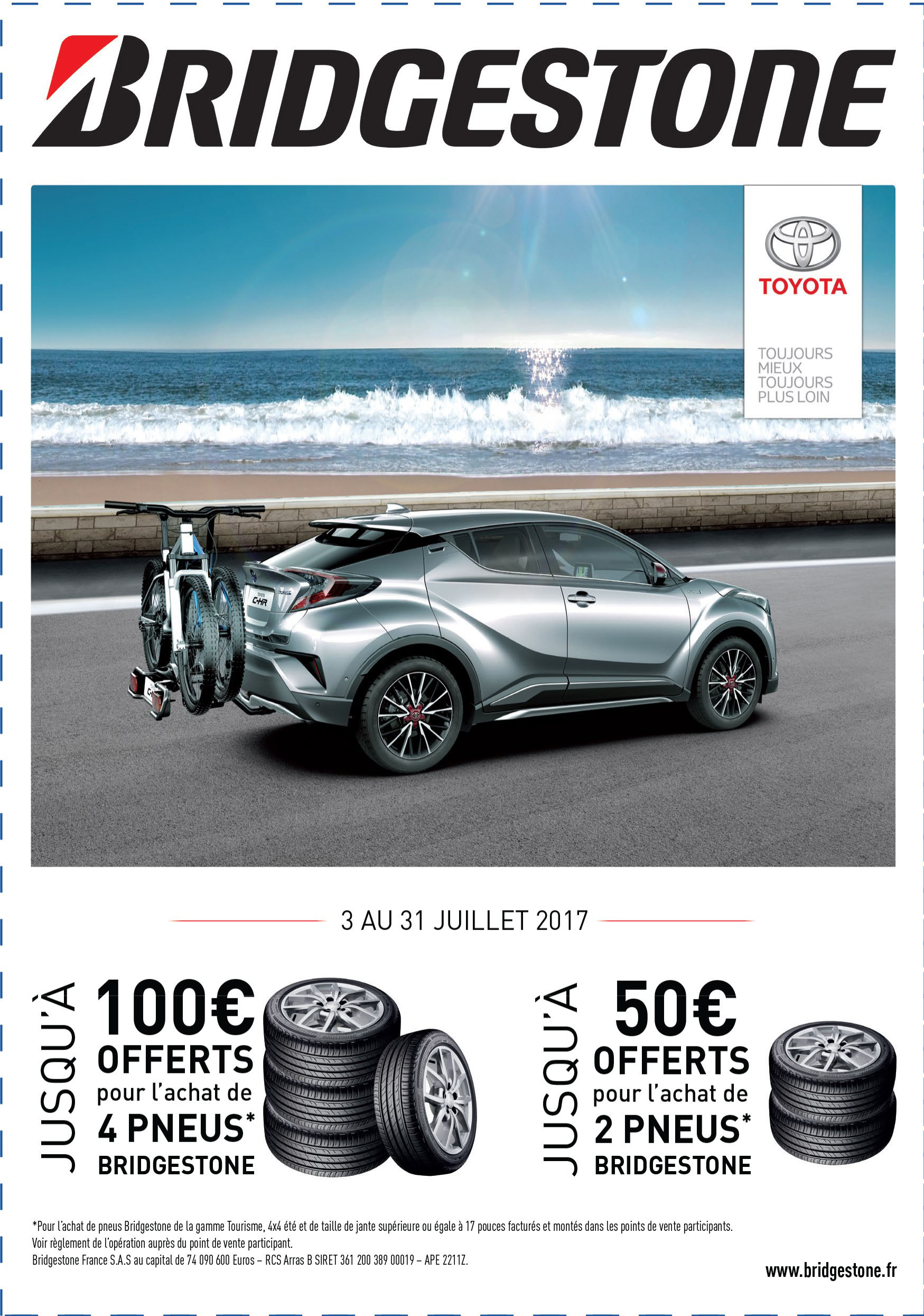toyota albi castres jusqu 39 100 euros offerts pour l 39 achat de pneus bridgestone blog maurel. Black Bedroom Furniture Sets. Home Design Ideas