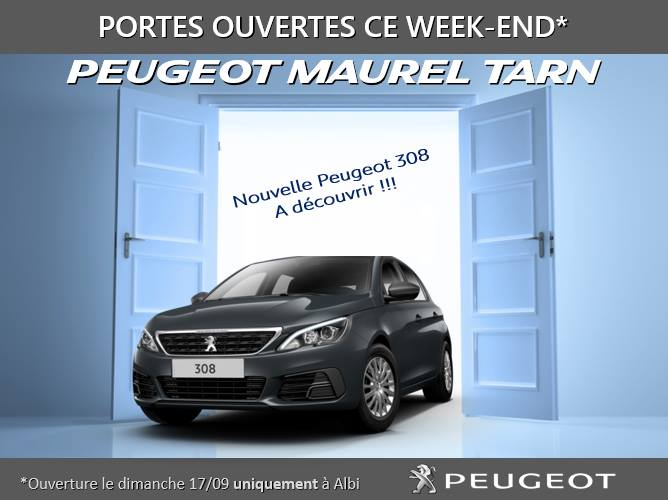portes ouvertes peugeot maurel tarn nouvelle 308 blog maurel auto. Black Bedroom Furniture Sets. Home Design Ideas